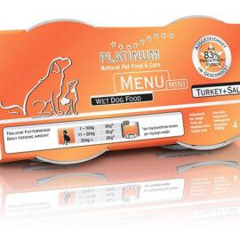 Platinum Menu Mini Turkey + Salmon 4 x 100g