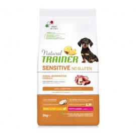 Trainer cane puppy & junior small & toy sensitive no gluten all' anatra da 2 kg