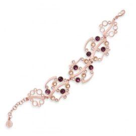 Boccadamo - bracciale con Swarosky crystal, light peach e amethyst