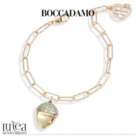 Boccadamo - Bracciale placcato oro giallo con pendente piramidale